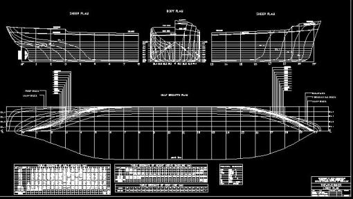 kapal tanker, rencana garis, lines plan kapal